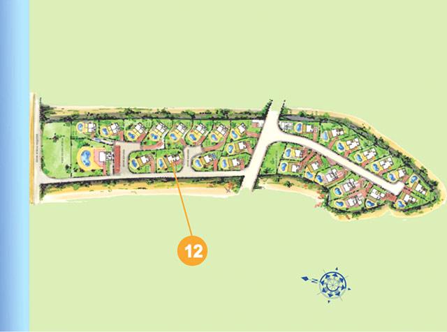 argaka 海滩别墅一层平面图: